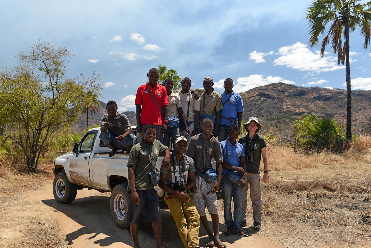 Dry season fieldwork at the Niassa Reserve
