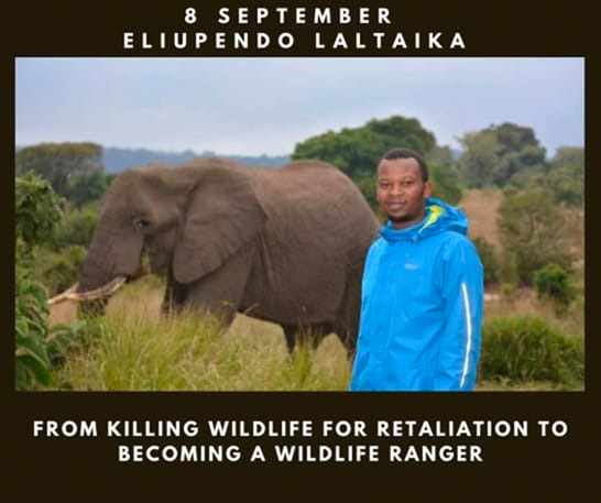 Eliupendo Laltaika gives a talk in the Leadership for Conservation in Africa series