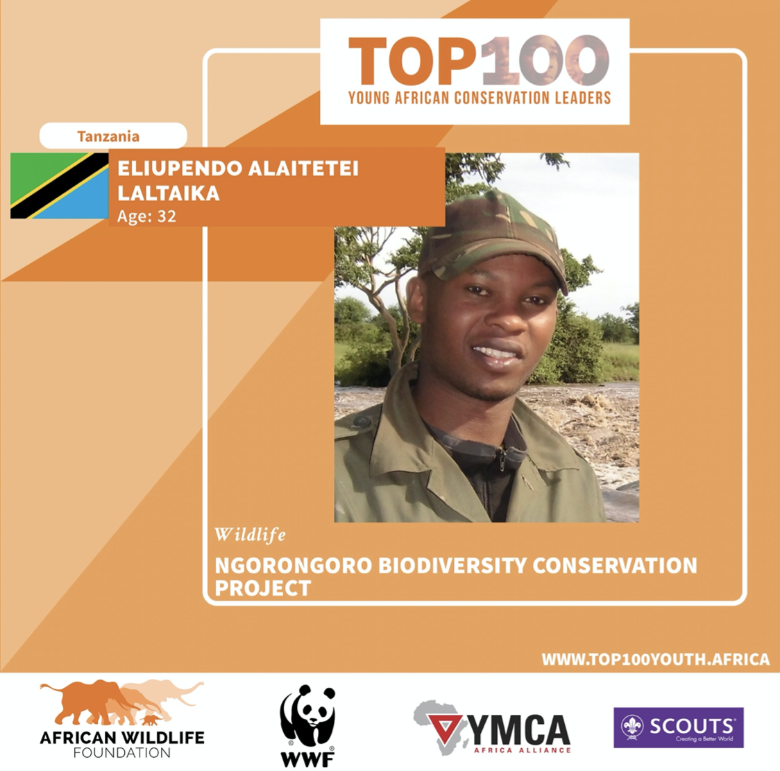 Laltaika in Top 100 Young African Conservation Leaders